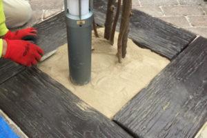 固まる 砂 で 水