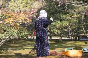 落ち葉掃除の方法